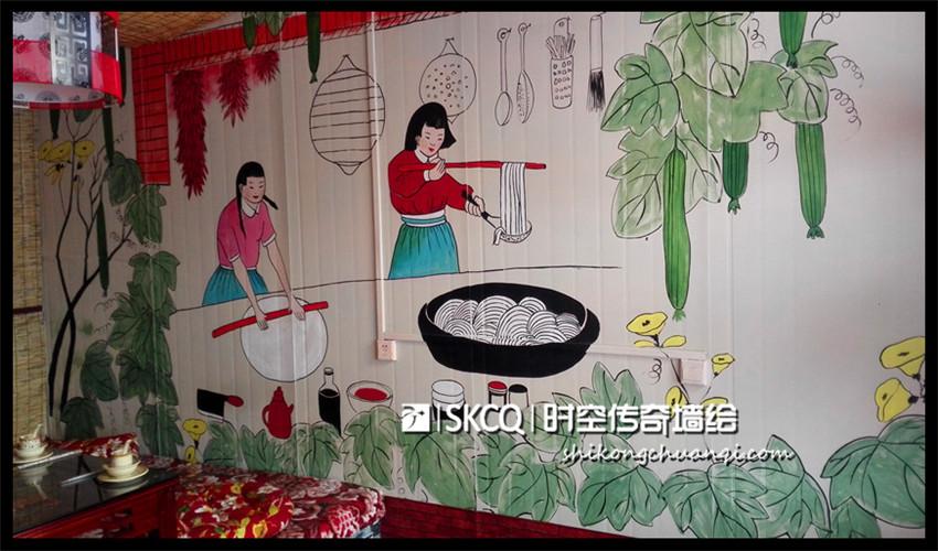 农家乐包间 - 山西时空传奇墙绘壁画-官网