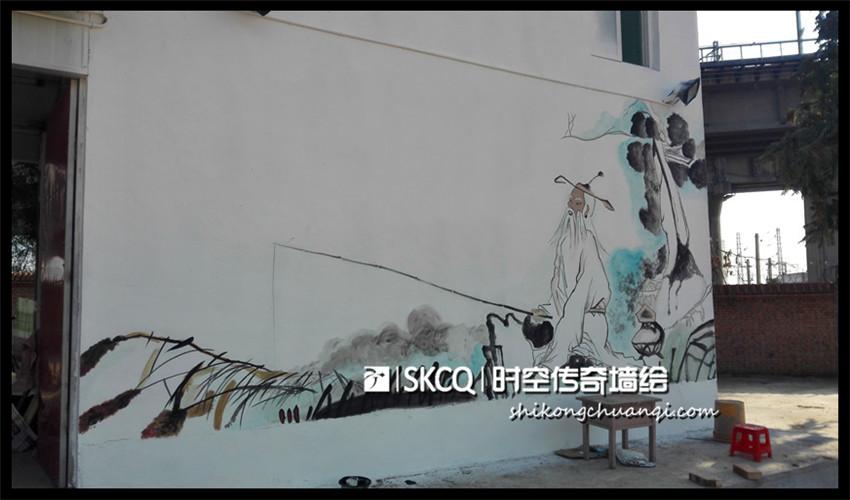 太榆路钓鱼农家乐 - 山西时空传奇墙绘壁画-官网
